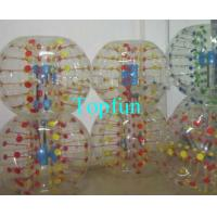 China Shining Inflatable Bumper Ball With Coloful D-ring , Human Hamster Ball on sale