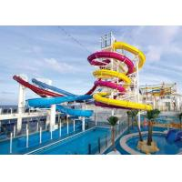Wholesale Family Entertainment Big Water Slides Customized Size Anti - Ultraviolet Material from china suppliers