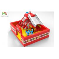 Wholesale Fire Fighting Truck Theme Inflatable Jumping Bouncer Castle For Commercial Amusement from china suppliers