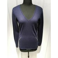Buy cheap Deep V Neck Intarsia Slim Fit Pullover ,Women Knit Pullover Sweater With Sequins from wholesalers