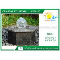 Buy cheap Landscape Cast Stone Outdoor Fountains With Hexagon Base / Glass Crystal Ball from wholesalers