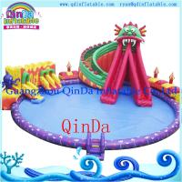 Quality Octopus Inflatable Water Slide with Swimming Pool inflatable slide for pool for sale