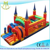 Wholesale Hansel new outdoor inflatable obstacle course equipment for kids paly or rental from china suppliers