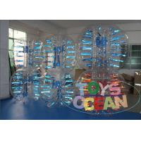 Wholesale Light Shinning Inflatable Human Body Bumper Ball Soccer Ball 1.5m Blue Red from china suppliers