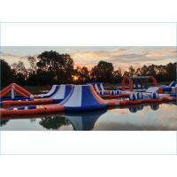 Quality Waterproof Inflatable Water Park For Sea Blue  , Yellow And White Color for sale