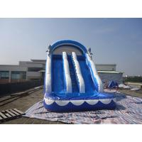 China Amusement Outdoor Inflatable Water Slide With Pool For Kids Water Park Games on sale
