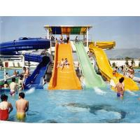 China Swimming Pool Fiber Glass Water Slides , Water Park Slide With 60m Length on sale
