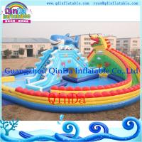 Wholesale Inflatable pool water park /portable pool water park inflatables pool with slide from china suppliers