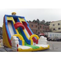 Wholesale Durable PVC Tarpaulin Water Slide For Kids , Giant Inflatable Slide For Rental Business from china suppliers