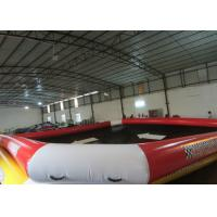 China Commercial Grade Inflatable Water Games Square Adult Blow Up Pool 8 X 8m Fire Resistance on sale