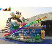 Quality Bee Commercial Inflatable Slide With Full Printing , inflatable slip and slide for sale