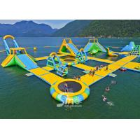 Wholesale 63x36m giant floating island inflatable water park for summer entertainment from china suppliers