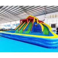 Buy cheap Playground Giant Bounce House Inflatable Water Slide With Pool from wholesalers