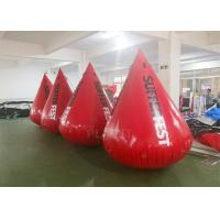 Wholesale Red Color Inflatable Water Buoy 0.6 Mm PVC Tarpaulin Material Logo Printing from china suppliers