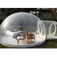 China 4m dome clear inflatable camping bubble tent with capsule tunnel on sale