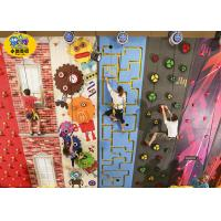 Quality Freestanding Plastic Rock Climbing Wall , Safe Kids Outdoor Climbing Wall for sale