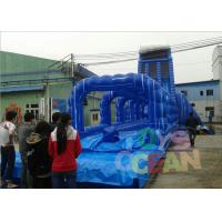 China Colorful Adult Bounce Inflatable Water Slide Rental Amazing For Lake on sale