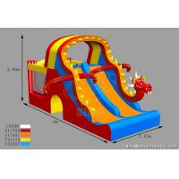 Wholesale Customized Kids Inflatable Water Slides Dino Type Double Slide For Park Center from china suppliers