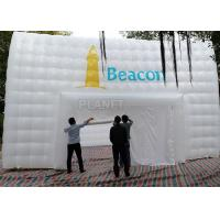 Quality Large White Inflatable Cube Tent 420 D Oxford Cloth Apply To Trade Show for sale