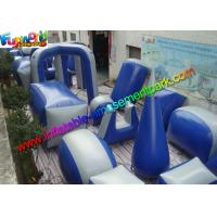 Wholesale Customized Blue Inflatable Paintball Arena Obstacle Game For Shooting Sport from china suppliers