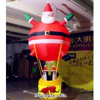 Wholesale 3m Height Hanging Inflatable Santa Claus with Penguins for Christmas Decoration from china suppliers