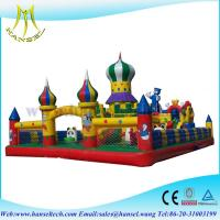 Quality Hansel Colourful Christmas commercial inflatable Water slide With Waterproof PVC for sale