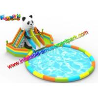 China EN14960 Inflatable Pool Slide Water Parks Equipment For Beach Activities on sale
