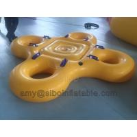 Wholesale 0.75 Pvc Material Inflatable Ski Water Tube Portable Inflatable Swim Ring For Fun from china suppliers