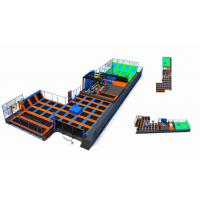 China 858M2 Commercial Amusement Trampoline Park with Climbing Wall/ Trampoline Park Made in China on sale