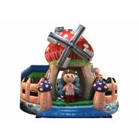 Wholesale Durable Inflatable Bounce House Beautiful Inflatable mushroom bouncer inflatable farm jumping with fence around from china suppliers