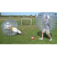 Wholesale Commercial Red Body Inflatable Zorb Ball / Bubble Soccer Ball Transparent Color from china suppliers