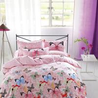 Wholesale Modern Home Bedroom 4 Piece Bedding Sets 100% Cotton Tancel Material Butterfly Design from china suppliers