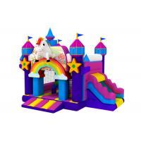 Wholesale Popular inflatable the Unicorn combo hot sale inflatable the Unicorn jumping house with slide from china suppliers