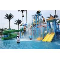 Wholesale Gaint Water House Aqua Playground Platform With Water Slide For Family Fun from china suppliers