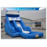 China Sea Style Dolphin Inflatable Water Slides , Outdoor Inflatable Water Park With Pool on sale