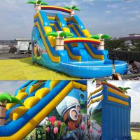 China Summer Inflatable Slides Inflatabe Water Slides With Pool on sale