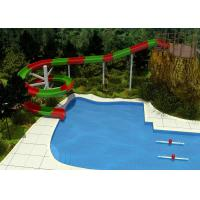 Wholesale 2 Person Outdoor Swimming Pool Slides For Family Resort / Adventure Park Water Slide from china suppliers