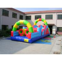China 0.55mm PVC Tarpaulin Inflatable Amusement Park Bounce House Combo Commercial Grade on sale