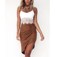 Wholesale Two piece of dress lace top and suede imitate skirt women summer sets from china suppliers