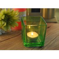 Wholesale OEM Square Replacement Glass Candle Holder With Different Colors from china suppliers