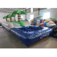 Wholesale Palm trees slope inflatable water slide 2017 China inflatable water slide with pool from china suppliers