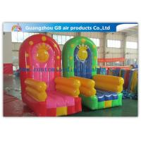 Wholesale PVC Tarpaulin Seat Air Inflatable Sofa Couch Chair / Blow Up Advertising Signs from china suppliers