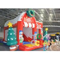 Wholesale Snowman Christmas Inflatable Jumping Castle Childrens Bouncy Castle With Slide from china suppliers