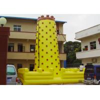 Quality Yellow Tall Inflatable Sports Games / Inflatable Climbing Wall For Fun for sale
