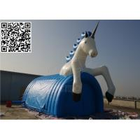 Wholesale Windproof Inflatable Event Tent , Blue PVC Tarpaulin Cartoon Horse Tent from china suppliers