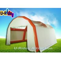 Wholesale White Inflatable Dome Tent With Door And Curtain , Inflatable Car Garage Tent from china suppliers