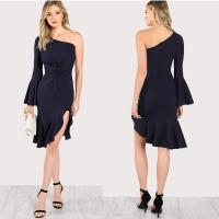 Quality summer one shoulder women fashion dress for sale