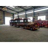 Wholesale Diesel 42 Seats Trackless Train Ride 20 Km / H Max Speed ISO Approved from china suppliers