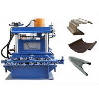 Color Steel Water Gutter Roll Forming Machine 50-60HZ PLC Control System