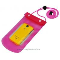 0.3mm Non-toxic Vinyl Water-Tight Phone Pouch for Smart Phone with Sanp Buttons